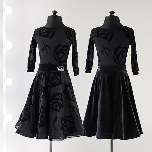 Рейтинговое платье, Рейтинговые платья, Одно боди две юбки, Платье для турнира, Танцевальная одежда, одежда для танцев