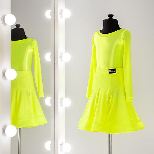 Рейтинговое платье с юбкой годе 8 клиньев, Рейтинговые платья от Vasilevadance для турнира на заказ, Танцевальная одежда