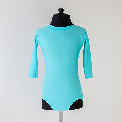 Боди для тренировок по спортивно-бальным танцам тиффани из бифлекса недорого. Тренировочная одежда. Танцевальный магазин