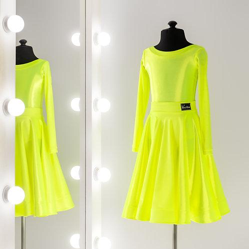 Яркое рейтинговое платье с регилином, Рейтинговые платья для турнира на заказ, Рейтинг, Одежда для танцев, Бейзик, Бейсик