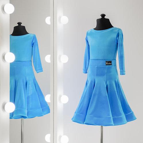 Рейтинговое платье с юбкой годе 8 клиньев, Рейтинговые платья от Vasilevadance для турнира на заказ, Танцевальная одежда, Бей