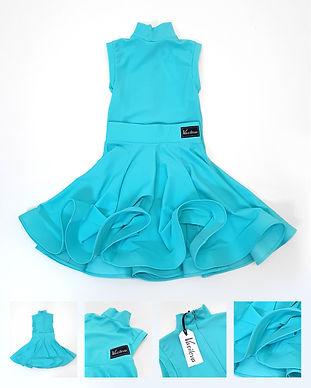Рейтинговое платье из бифлекса Standart 2 от Vasileva dance. Цвет тиффани