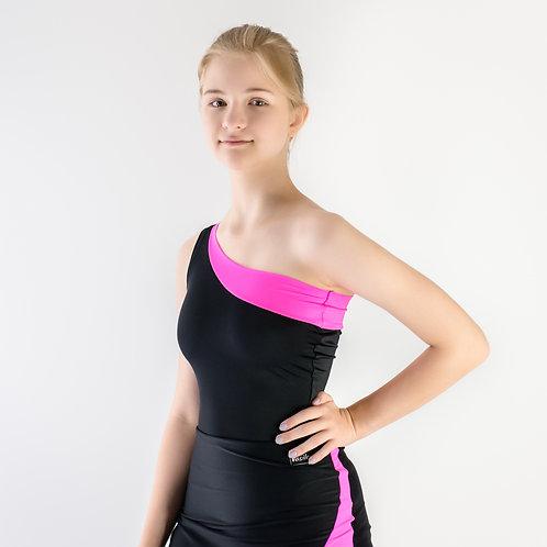 Боди для тренировок по спортивно-бальным танцам из бифлекса. Недорогой купальник. Танцевальный магазин в Москве