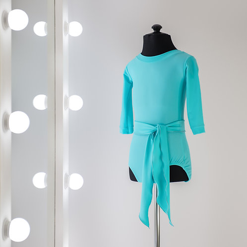 Боди для тренировок по спортивно-бальным танцам с поясом из бифлекса недорого. Тренировочная одежда. Танцевальный магазин