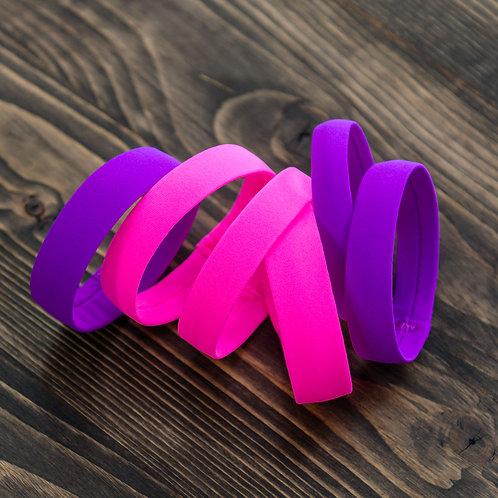 Браслеты из бифлекса для спортивно-бальных танцев. Розовый браслет. Браслеты для латины под платье. Аксессуары для танцев
