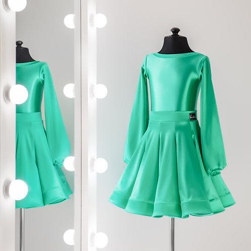 Рейтинговое платье годе 10 клиньев, Рейтинговые платья от Vasilevadance для турнира на заказ, Танцевальная одежда, юбка годе