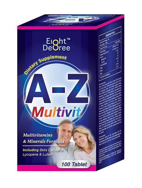 8度™ A-Z 多種維他命及礦物質 100粒裝