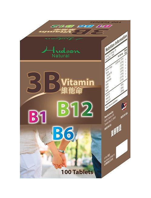哈紳-3B 維他命配方 (B1 + B6 + B12) 100粒裝