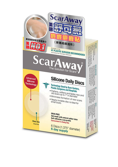 美國舒可薇ScarAway痘痘疤痕貼 6片裝