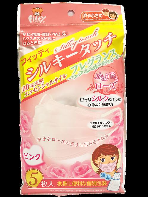 Fitty 5枚 獨立裝玫瑰香味口罩 (14.5 cm x 9 cm )
