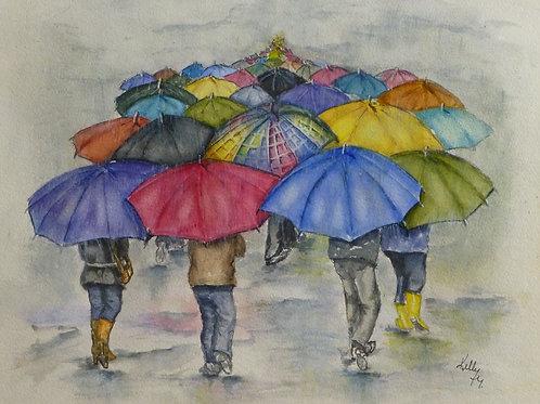 Infinity Umbrella Walk