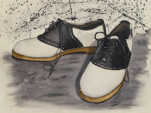 Saddle Shoes in Black & White