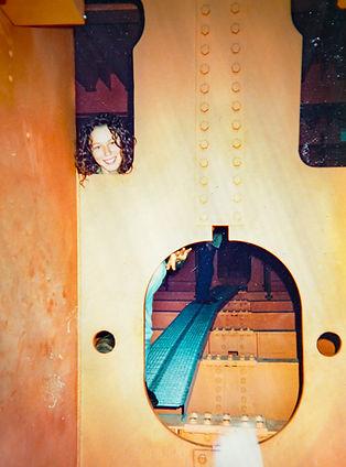 Bindi inside the West Gate Bridge, 1990_