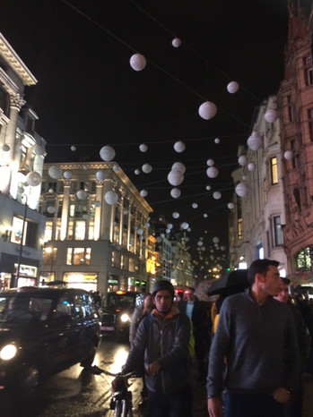 Nightime decoration London