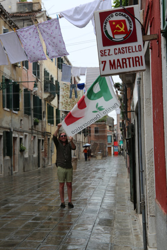 Venice Italy, democracy and communisim side by side
