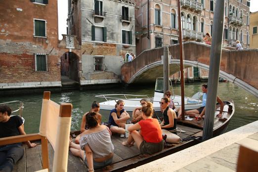 Venice Italy. Canal Bar