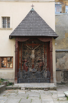 A Statue In Lviv - Biggest Wooden Jesus