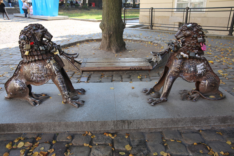 A Statue In Lviv - And a Bench