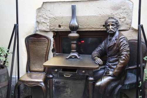 A Statue In Lviv - Gas Lamp