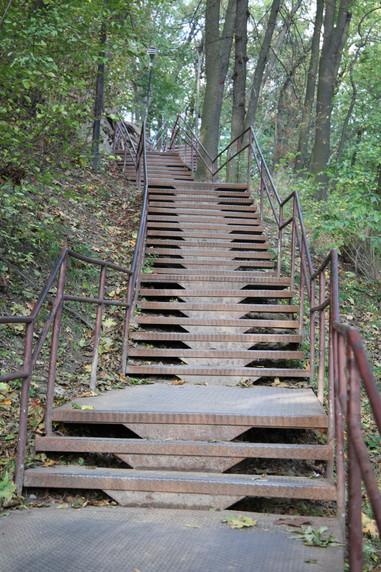 Steps to High Castle Lviv