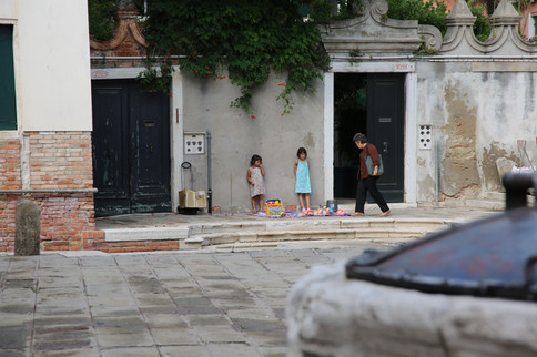 Venice Italy, Kids playing