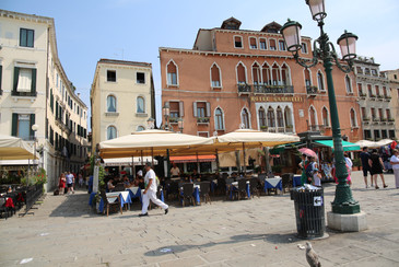 Venice Italy, outdoor cafes
