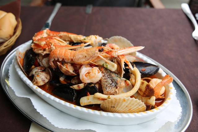 Venice Italy, fresh fish dish