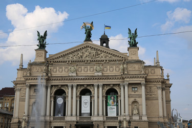 A Statue In Lviv - On The Opera House
