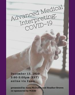Advanced Medical Interpreting- COVID-19