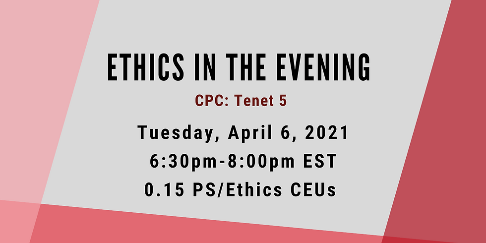 Ethics in the Evening: A Series of Ethical Discussions