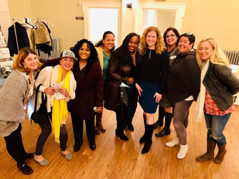 Kimberly posing with attendees from Rise to the Occasion's Women in Leadership 2018 event
