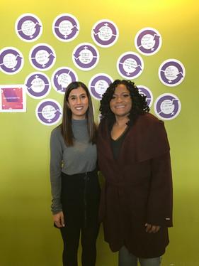 Kimberly and Faiza Jooma, Zillow's Employee Communications Coordinator on International Women's Day 2019
