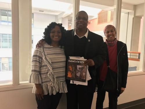 Kimberly, King County Councilman Larry Gossett, and Mrs. Ruby Gossett