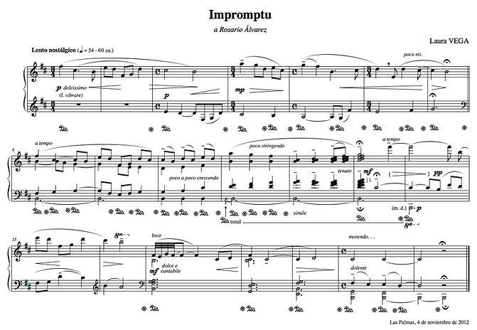 LAURA VEGA. Impromptu para piano (arrast