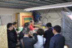 Fespa: Vorführung einer Siebdruckmaschine für chinesische Siebdrucker