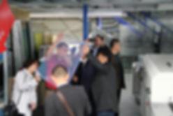 Fespa: Rundgang in der Produktionshalle; Paellek Siebdruck GmbH