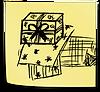 Geschenkpapier im Siebdruck bedruckt