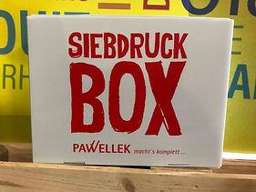 Siebdruckbox
