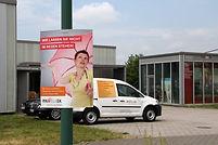 Wahlplakat bedruckt