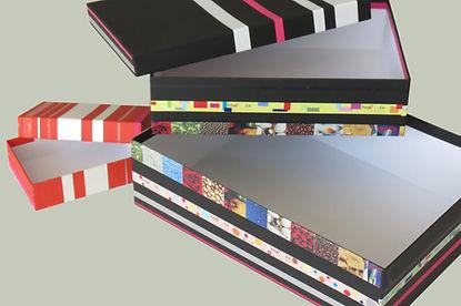 Siebdruck, Schachtelbezüge bedruckt