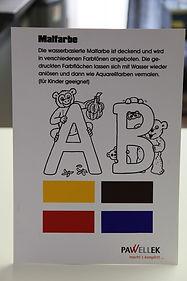 Malfarben im Siebdruck auf Papier gedruckt