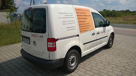 Lieferwagen der Pawellek Siebdruck GmbH