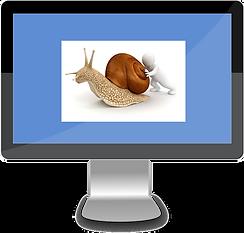 Man pushing snail