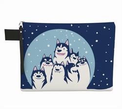 Zipper pouch - Huskies