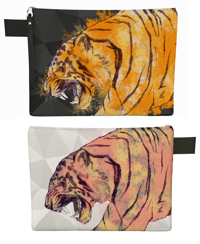 zipper pouch - tiger
