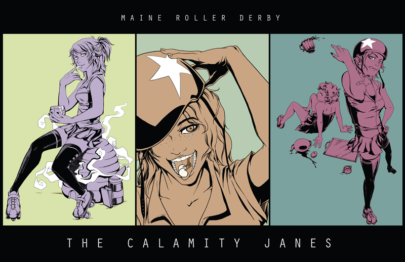 Maine Roller Derby Illustrations