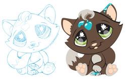 Littlest Petshop - Painted Kitty