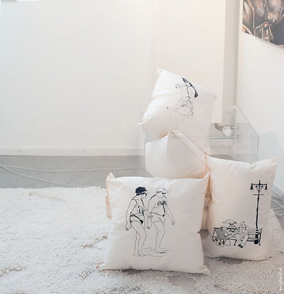 Handmade and handprinted cushions, Boardwalk
