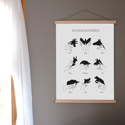 Art print Shadow Animals