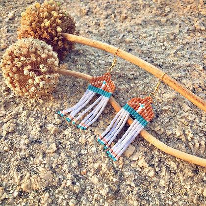 Folk | Handgemaakte oorbellen - Terracotta
